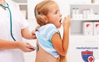 Односторонняя пневмония у детей