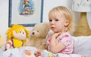 Болит горло и высокая температура у ребенка