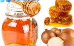 Лекарство от кашля из лука и меда
