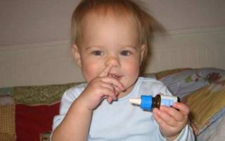 Детские капли от насморка до года