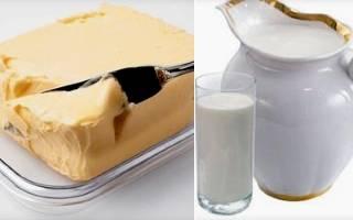 Молоко со сливочным маслом от кашля