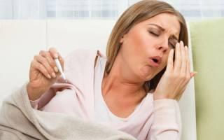 Отхождение мокроты при кашле