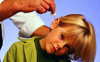 Капли в ухо при отите у детей